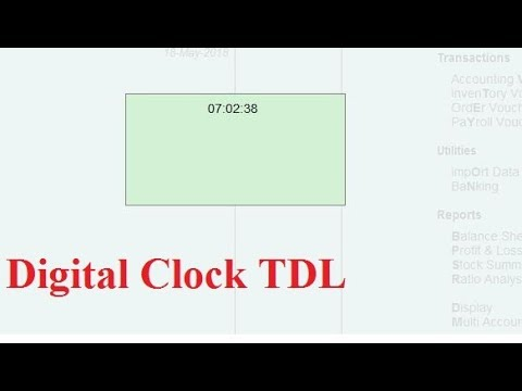 Tally TDL for Digitaly Clock   for your Relax Time   Tally Add on for Clock