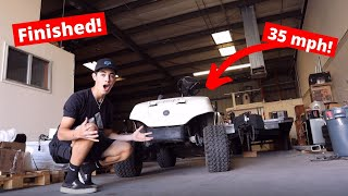 Finished Predator 670cc engine swapped Golf Cart! (35mph)