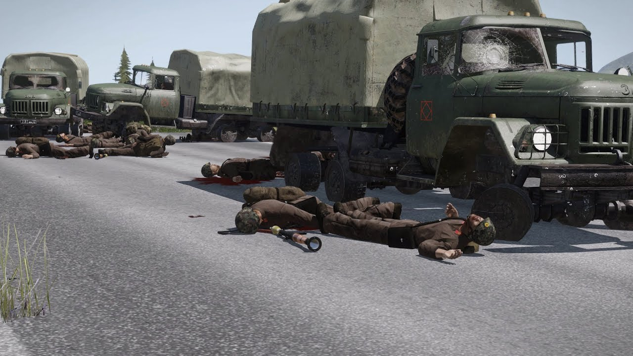 ARMA 3: US Military Convoy Ambushed by Russian Soldiers | USA vs Russia