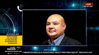 Adrian Lackay on appointment of Mabuza as acting Eskom CEO