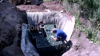 видео Обслуживание сруба в процессе усадки