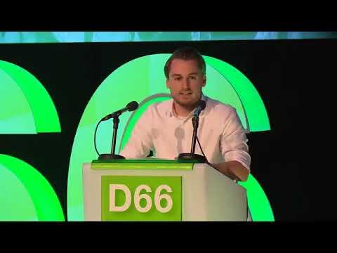 Voorzitter Dennis van Driel D66 congres 108