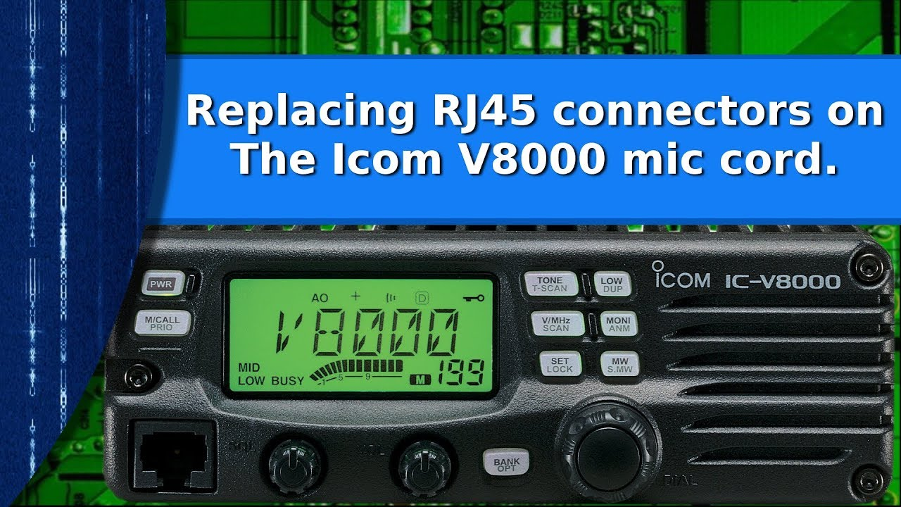 Ham Radio Replacing Rj45 Connectors On An Icom Ic V8000 Mic Cable Hm 103 Microphone Wiring Diagrams
