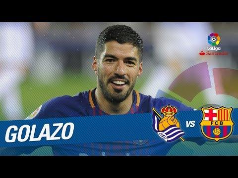 Golazo de Luis Suárez (2-2) Real Sociedad vs FC Barcelona