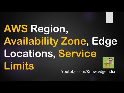AWS - Regions, AZ Availability Zones, Service Limits, Edge Locations, CloudFront