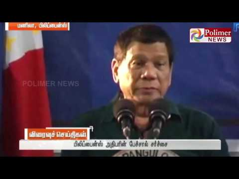 Philippines Army men can molest 3 women says President ; Critic Condemns | Polimer News