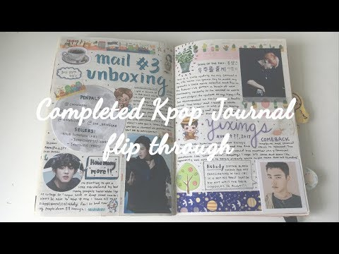 Completed Kpop Journal Flip Through + Tips On What To Put In It