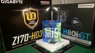 SIVI SOĞUTMA i5 6500 Z170 HD3 H80i GT PC TOPLAMA HASAN' DAN