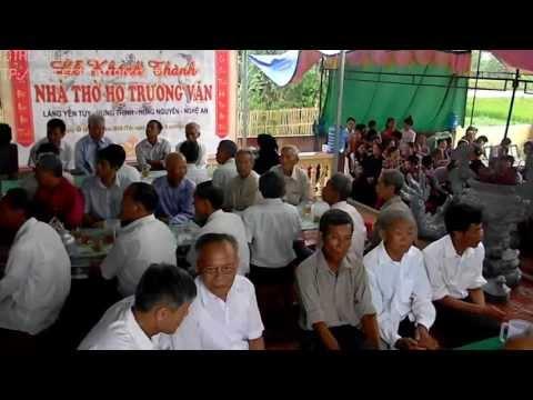 Lễ khánh thành nhà thờ họ Trương Văn - Hưng Thịnh - Hưng Nguyên