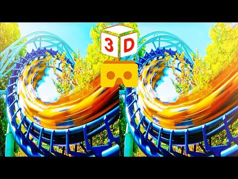 3D Roller Coaster Z VR Videos 3D SBS [Google Cardboard VR Experience] VR Box Virtual Reality Video