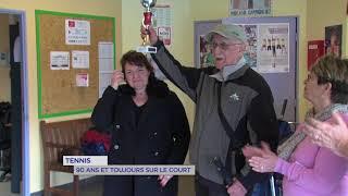 Tennis : 90 ans et toujours sur le court