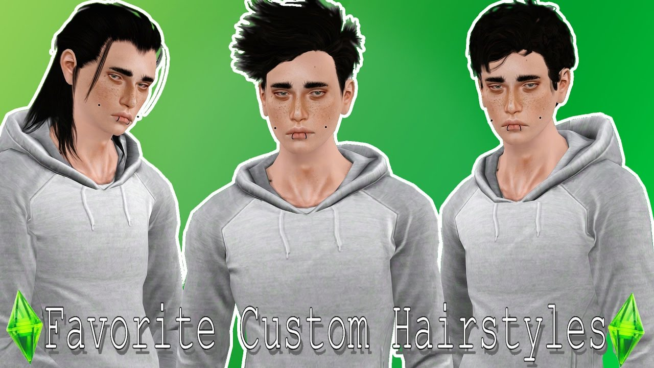 The Sims  My Favorite Male Hairstyles YouTube - Male hair styles