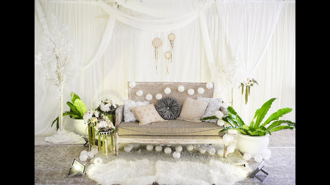 FlowerRiot Vlog White Boho Wedding Decor