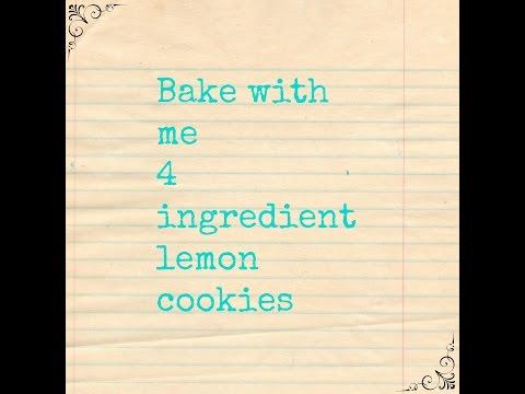 4 Ingredient Lemon Cake Cookies