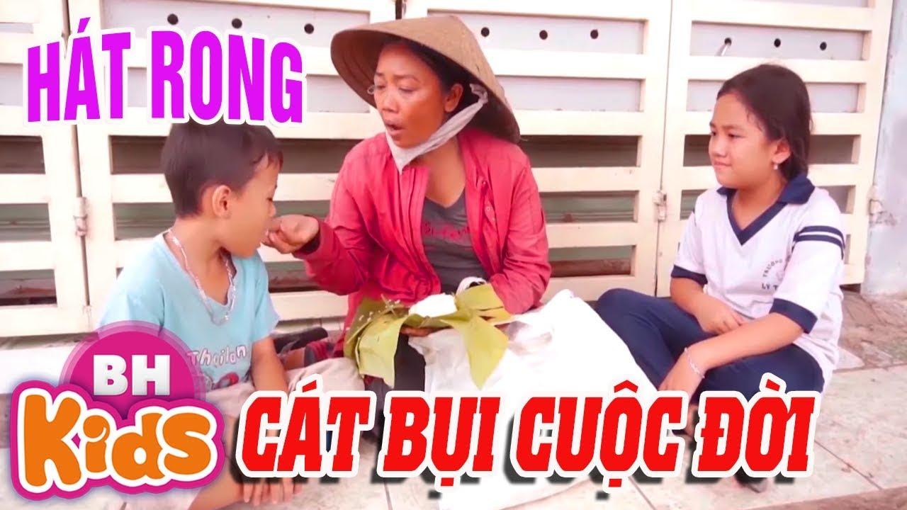 Bé gái ăn cơm nắm hát CÁT BỤI CUỘC ĐỜI khiến triệu người rơi nước mắt - Bé Yến Nhi