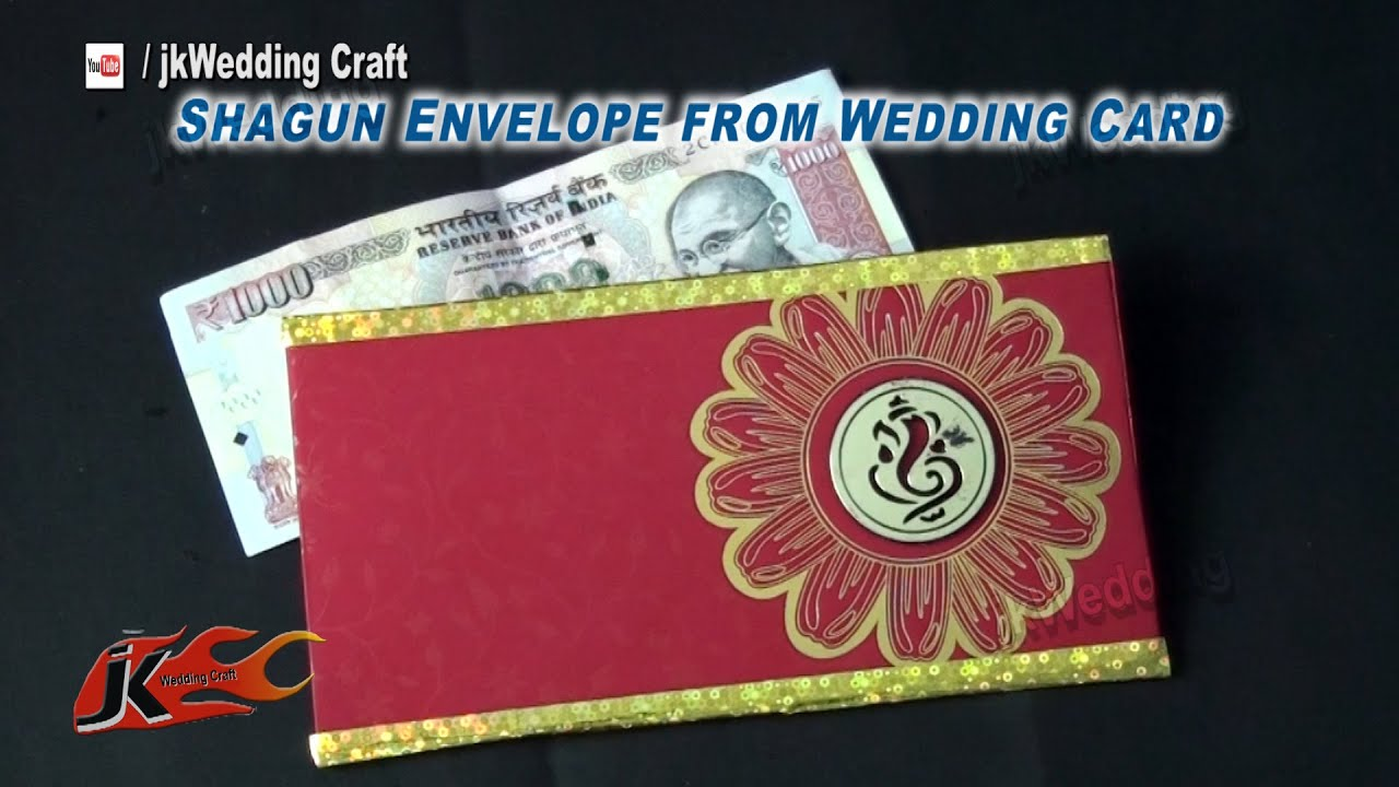 how to make shagun envelope from wedding card best out of waste