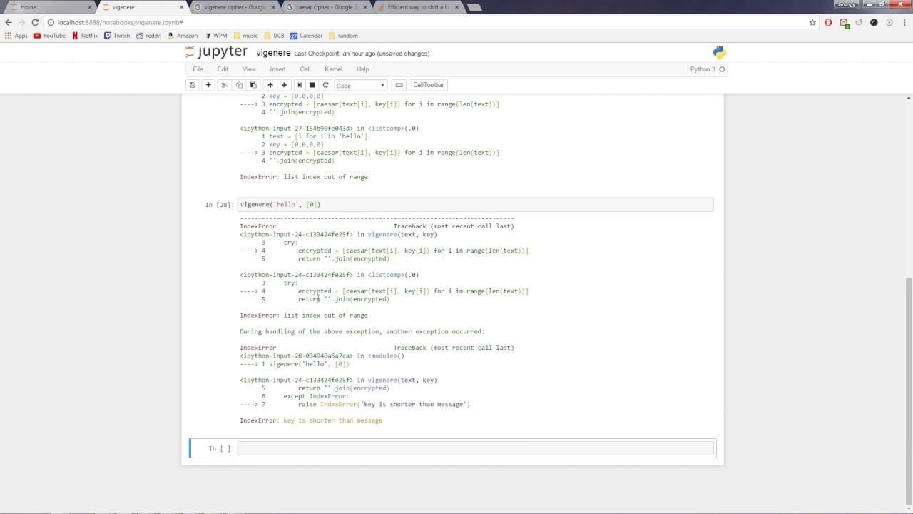 SIMPLE Vigenere Cipher in Python