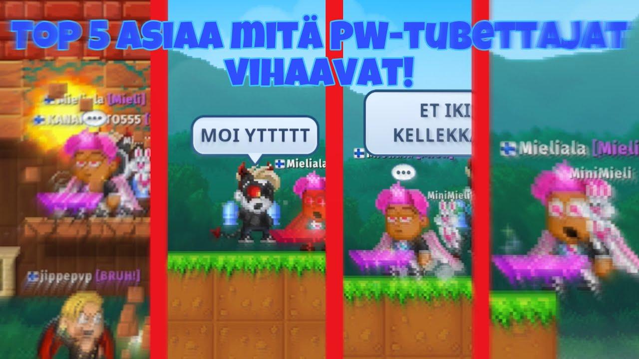 Download TOP 5 ASIAA MITÄ PW-TUBETTAJAT VIHAAVAT!!🔥😱 | Pixel Worlds Suomi |