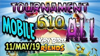 Angry Birds Friends All Levels MOBILE Tournament 610 Highscore POWER UP Walkthrough AngryBirds