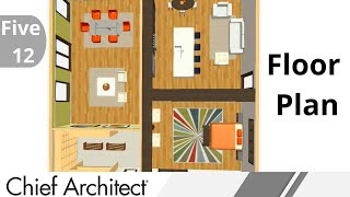 1. Five-12 Kitchen - Room Layout