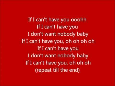 Glee - If I can't have you - Lyrics