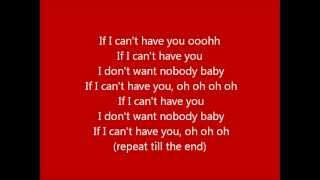 If i can't have you by naya rivera with lyrics, peformed in glee.
