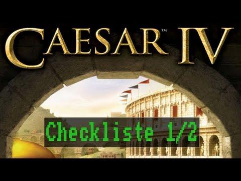 Checkliste: Caesar 4 (1/2) [Gameplay / Deutsch / Full HD / PC]