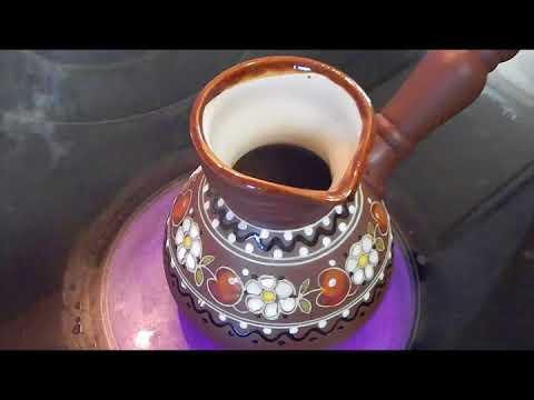 Как варить кофе в глиняной турке на газовой плите
