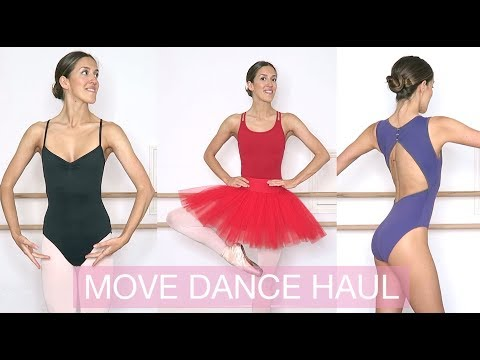 HUGE BALLET HAUL from MOVE DANCE - leotards, tights, skort and a tutu! | natalie danza