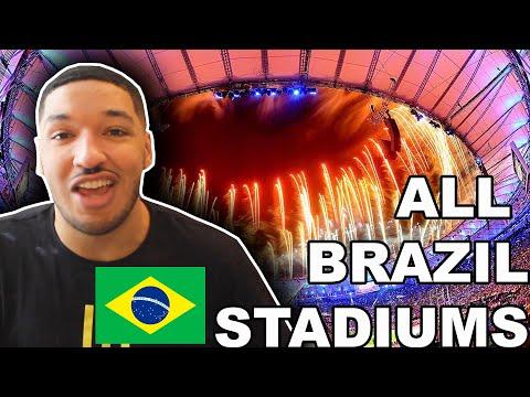 American Reacts to ALL 20 BRAZILIAN FOOTBALL STADIUMS (Brasileirão Serie A Stadiums)
