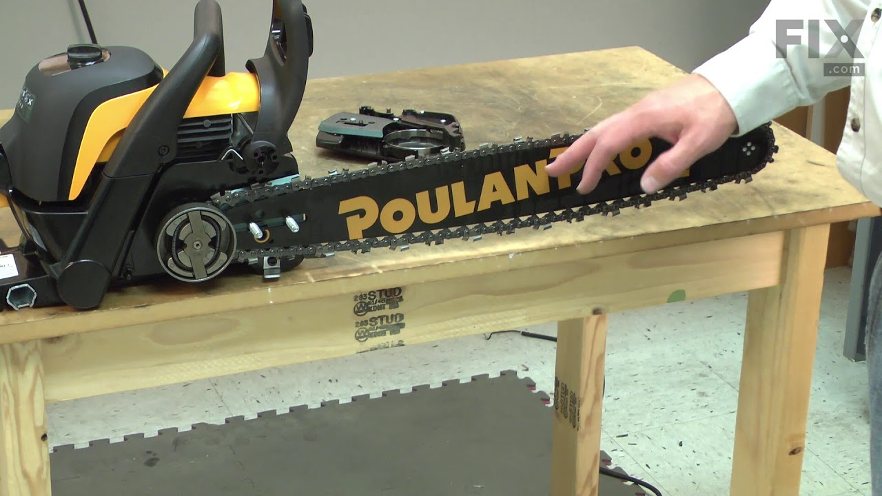 Poulan chainsaw repair how to replace the bar youtube poulan chainsaw repair how to replace the bar greentooth Images