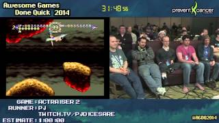 ActRaiser 2 :: SPEED RUN (0:57:15) by PJ #AGDQ 2014