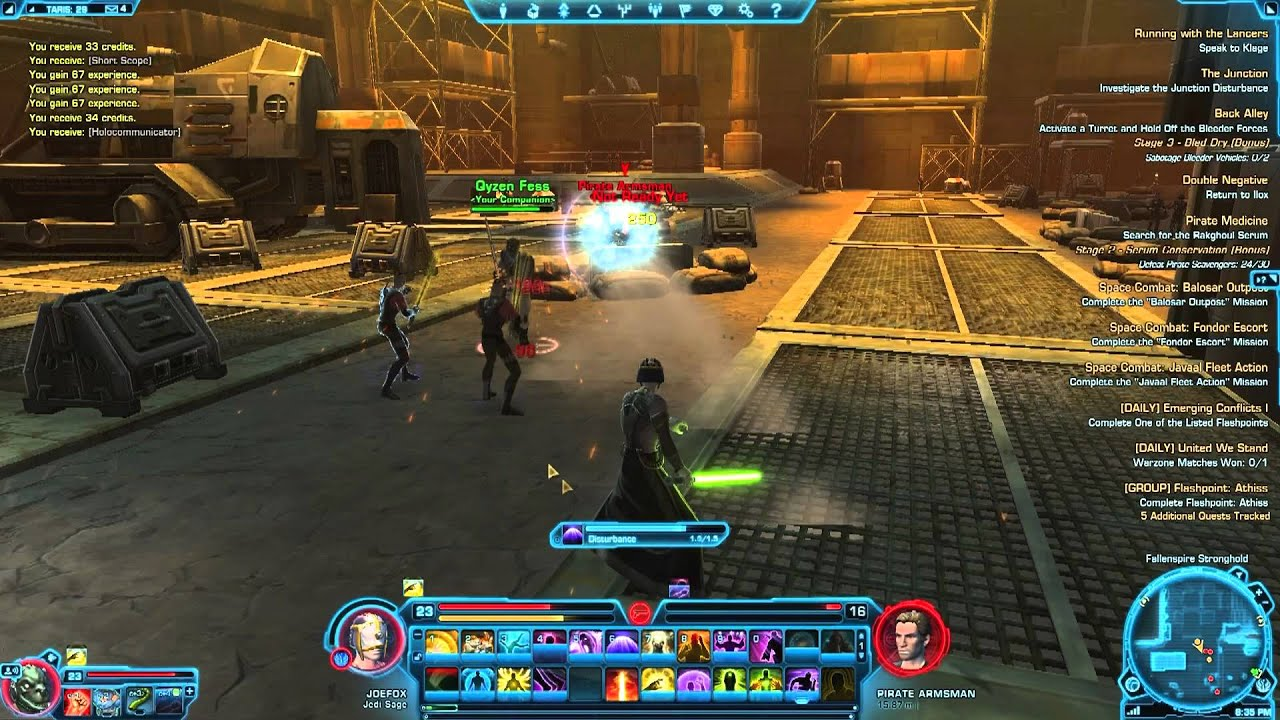 SWTOR Taris Stage 2 Serum Conservation Pirate Medicine Mission Commentary