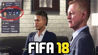 SIGNING NEYMAR IN FIFA 18 CAREER MODE!!! - FIFA 18 Experiment