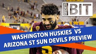 Washington vs Arizona St | Sports BIT Clip | College Football Odds & Picks