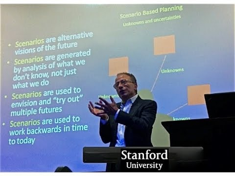 "Professor Eli Zelkha ""Scenario Based Planning"" - Stanford University, School of Engineering"
