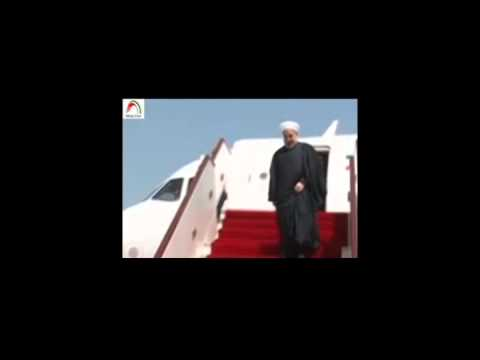 President Rouhani's trip to Oman. Report. English sub.