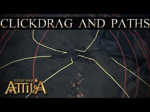 Total War Attila - Click Drag and Waypoints