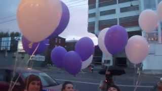 Запуск шаров в конце свадьбы (прощание с девичьей фамилией)