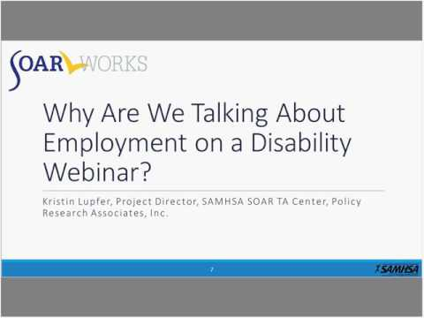 SOAR Webinar: Yes, You Can Work! Working While Applying for and Receiving SSA Benefits