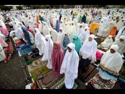 WAJIB TAHU,,, Inilah Niat Sholat Hari Raya Idul Fitri Lengkap Arab, Latin dan Artinya