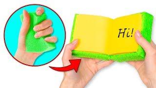 Turn A Sponge Into A Notepad Plus 3 Sequin Fabric School Supplies DIYs