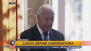 Canal 13 - T13 A LA HORA - Ricardo Lagos baja candidatura presidencial