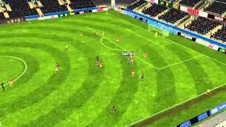 Barcelona 'B' - Murcia - Gol de Enguene 45 minutos