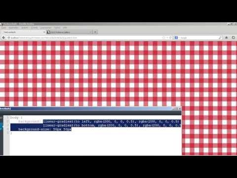 Mustereffekte Erstellen - HTML5 Und CSS3
