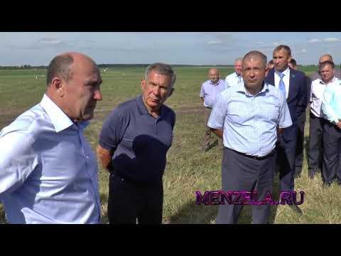 Президент РТ Рустам Минниханов убедился, что в Мензелинске хорошая динамика уборочных работ