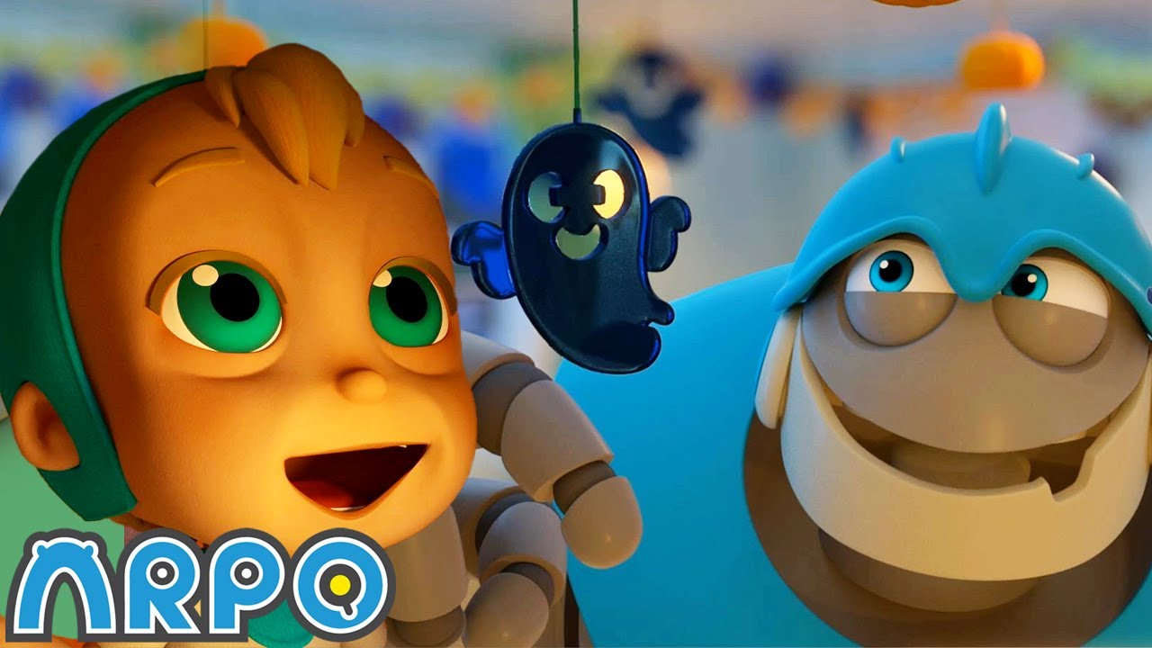 Arpo the Robot   The Pumpkin is ALIVE!!!   NEW VIDEO   Funny Cartoons for Kids   Arpo and Daniel