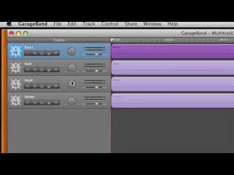 multitrack recording with garageband 09 tutorial youtube rh youtube com Garage Rock Bands GarageBand App