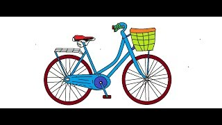 How to draw bicycle and color it in ms paint