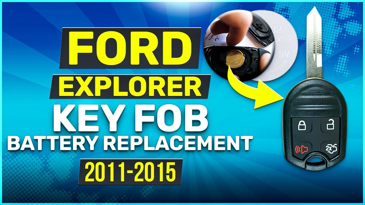 ford explorer rounded key fob battery replacement youtube